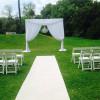 Ceremony set up at Botanic Gardens
