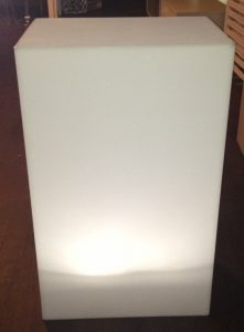 White Plinth Light Option